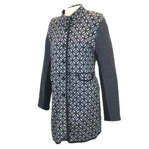 Taifun Black Gray Long Geometric Sweater 16